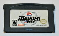 MADDEN NFL 2002 NINTENDO GAMEBOY ADVANCE SP GBA