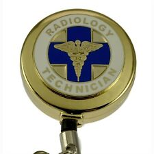 Radiology Technician Badge Reel RAD Tech Lanyard Retractable Hospital ID Holder