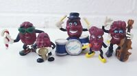 The California Raisins Figure Band Lot Bundle Vintage Figurines PVC 1988 x5 rare