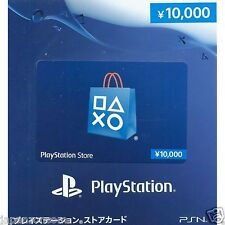 PSN Network Card 10000 YENS PSVita PLAYSTATION SONY JAPANESE NEW JAPANZON PS 3 4