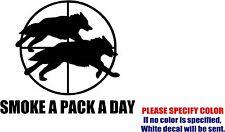 "SMOKE A PACK A DAY Graphic Die Cut decal sticker Car Truck Boat Window Bumper 9"""