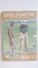 David Leadbetter's Simple Secrets For Great Golf [ DVD ] LIKE NEW, Multi Region