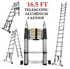 NEW 16.5 Feet Aluminum Sturdy TELESCOPIC LADDER Folding  Multifunction NEW BOXED
