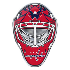 Washington Capitals Hockey Mask Auto or Hard Surface Emblem Decal NHL Licensed