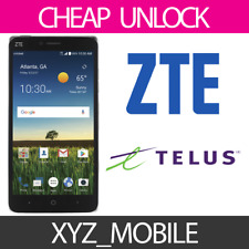 Unlock Code for TELUS, Koodo Mobile (Canada) ZTE -- Any model