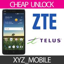 Unlock Code for TELUS, Koodo Mobile (Canada) ZTE -- Any model