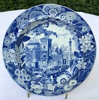 Don Pottery Swinton Yorkshire Italianate Procession Plate early 19th Century