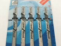 Jigsaw Blades For Bosch PST50E 5 Pack Straight/Curve Cut