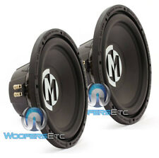 "PAIR MEMPHIS SRX12D4 12"" SUB 500W MAX SUBWOOFER DUAL 4 OHM CAR AUDIO SPEAKER NEW"