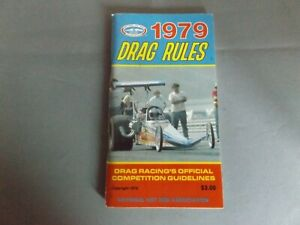 1979 NHRA DRAG RULES RULEBOOK - 120 PAGES