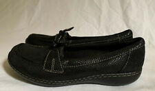 Clarks Collection Women's  Black  Leather Loafers  15260 US Size 7.5