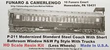 Funaro F&C 211  NORFOLK WESTERN Pg COACH  Passenger NW N&W Car  1-PC w TRUCKS