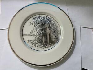 Vintage Hunting Dog Plate Lenox Chesapeake Bay Retriever by Richard Bishop