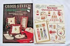 2 Cross Stitch Christmas & Sacred Design Pattern Book/Booklets Un-Cut Pre-Owned