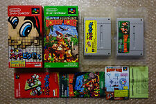 Super Donkey Kong + Mario Super Picross 2 Games Set Nintendo Super Famicom Japan