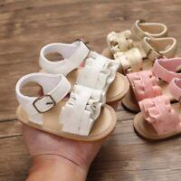 Summer Baby Girl Sandals Anti-Slip Crib Shoes Sole Prewalker Flower Baby Shoes