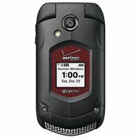 Kyocera Duraxv Plus E4520PTT Black Flip Phone Verizon