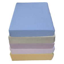 Baby Cotton Fitted Sheet for cot (60 x 120cm) or cot bed (70 x 140cm) Made in EU