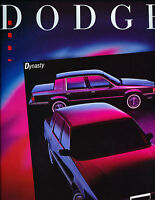 1989 Dodge Dynasty 14-page Original Car Dealer Sales Brochure