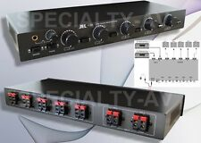 5ZONE 2AMP Speaker Selector Switch Switcher with Level Volume Control