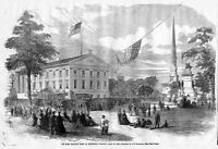 MASS MEETING HELD AT RICHMOND, VIRGINIA, CAPITAL GROUNDS, GOVERNOR'S MANSION