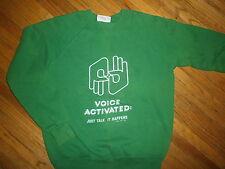 vtg 80s SIGN LANGUAGE SWEATSHIRT Interpret Voice Activated Deafness Hearing Loss