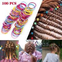 100pcs Women Girls Kid Elastic Rope Hair Ties Ponytail Holder Headband Hair Band