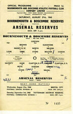 Bournemouth Reserves Teams A-B Football Programmes