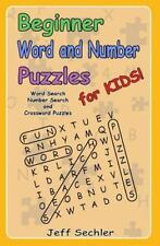 Beginner Word and Number Puzzles for Kids : Word Search, Number Search and...