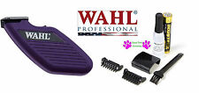 PURPLE WAHL Cordless MINI Pro Trimmer/Clipper &Blade,Guide Combs,Battery*QUIET