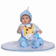 """17"""" 42cm Reborn Baby Boy Doll Realistic Lifelike Soft Silicone Newborn Dolls"""