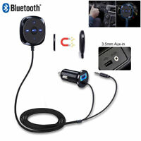 3.5mm Car AUX Bluetooth Wireless Stereo Audio Music Receiver Adapter USB Charger