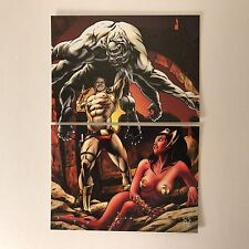 PROMO CARD: WARLORD OF MARS Breygent 2012 PHILLY NON SPORT SHOW PUZZLE 2 Cards