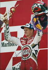 Kevin Schwantz GENUINE SIGNED Motorcycle Grand Prix Champ 12x8 Photo AFTAL COA