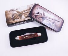 Rough Rider RR709 Rifleman Series Stockman Folding Knife Genuine Bone Rare