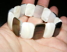 Abalone Shell Gemstone Crystal Bracelet A Grade 18mmx12mm Beads