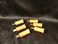Set of 6 Wooden Corn Cob Holders Vintage