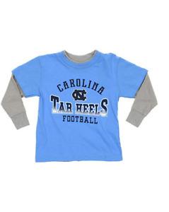 Outerstuff NCAA Kids North Carolina Tar Heels Faux Layer Long Sleeve Tee