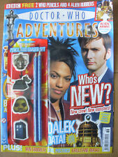 DOCTOR WHO ADVENTURES ISSUE No 12 WITH FREE GIFTS PENCIL AND ERASER SET