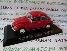 Auto 1/43 IXO DEAGOSTINI Balkan : VOLKSWAGEN Kafer Käfer Käfer rot