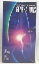 "NEW Sealed ""Star Trek GENERATIONS"" (VHS 1995) William Shatner Patrick Stewart"