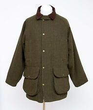 JACK ORTON ENGLAND TWEED PADDED JACKET WOOL BLEND SHOOTING COAT GREEN MEDIUM EXC