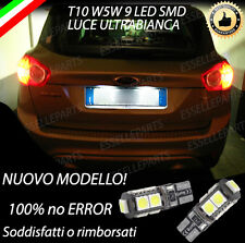 COPPIA LUCI TARGA 9 LED PER FORD KUGA T10 W5W BIANCO CANBUS NO ERRORE