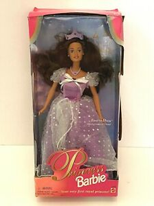 1997 Barbie Teresa Doll Your Very First Royal Princess Brunette In Original Box