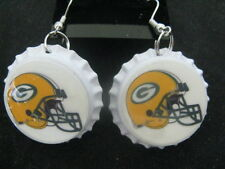 "1"" Bottle Cap Image Earrings ~ Handcrafted ~ **Gift Idea ~ Packers"