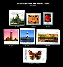 SELBSTKLEBENDE - alle des Jahres 2005 ** postfrisch - #A