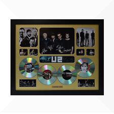 U2 Signed & Framed Memorabilia - 4 CD - Gold  - Limited Edition