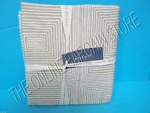 Pottery Barn West Elm Pyramid Sateen Cotton Bed Duvet Cover King Neutral