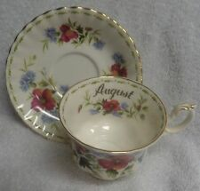 Royal Albert Flower of the Month August  Cup and Saucer