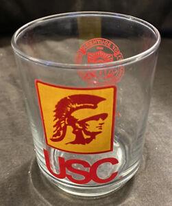 "1980s USC Trojans Drinking Cocktail  4"" T x 3-1/4"" Diam. Glass Tumbler"